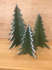 Laser Cut Trees - White Trim