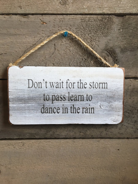 Don't wait for the storm
