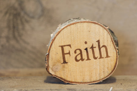 Faith Printed Birch Disc