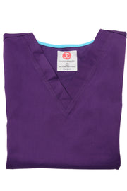 The Premium Flex Stretch V-Neck Scrub Top - Eggplant - Rhino Scrubletix Style 14