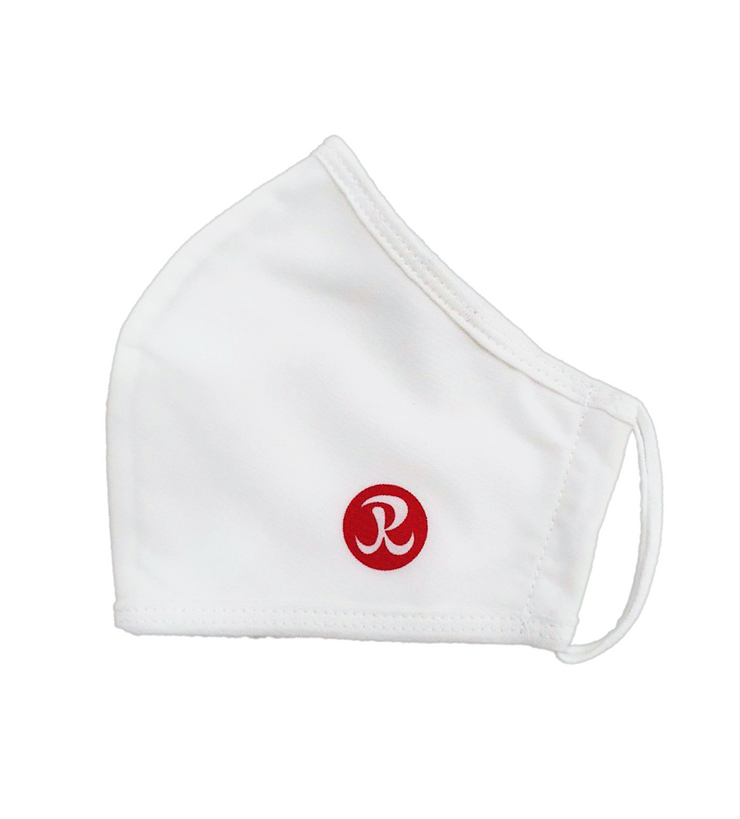 Rhino Reusable Cloth Face Mask, 30-Use With Built in Filter, White