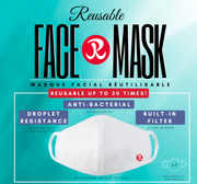 Rhino Reusable Cloth Face Mask, 30-Use With Built in Filter
