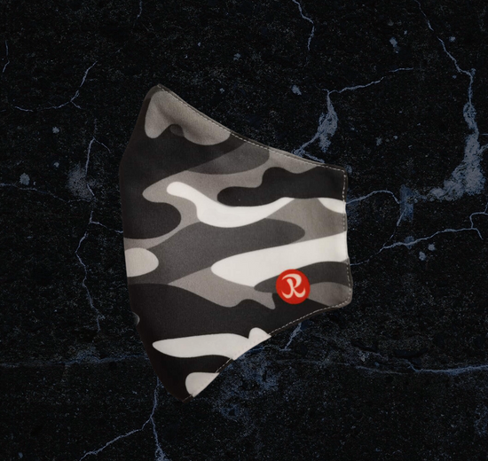 Rhino Reusable Cloth Fashion Face Mask - Grey Camo