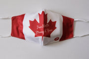 Rhino Reusable Cloth Fashion Face Mask - Canada Flag True North Strong & Free