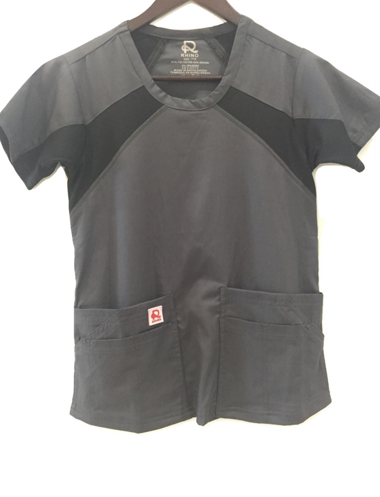 Flex Extreme Top Pewter - Rhino Scrubs