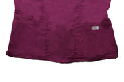 The Crossover Curved Scoop V-Neck Scrub Top - Wine - Rhino Scrubletix Style 6