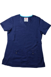 The Premium Flex Stretch V-Neck Scrub Top - Navy - Rhino Scrubletix Style 14