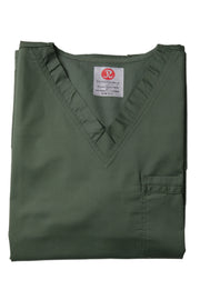 The Unisex V-Neck Scrub Top - Olive - Rhino Scrubletix Style 2