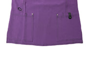 The Contrast Premium Flex Stretch V-neck Scrub Top - Eggplant - Rhino Scrubletix Style 7
