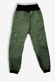 Rhino scrubs olive joggers pants product view from back