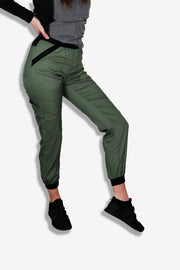 Rhino scrubs olive joggers pants product view on model
