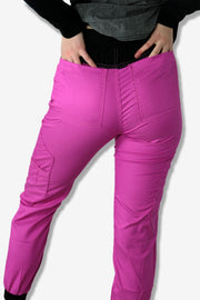 Rhino scrubs pink joggers pants girl modelling from back