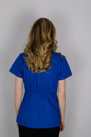 The Curved V-Slit Neckline Scrub Top - Royal Blue - Rhino Scrubletix Style 4