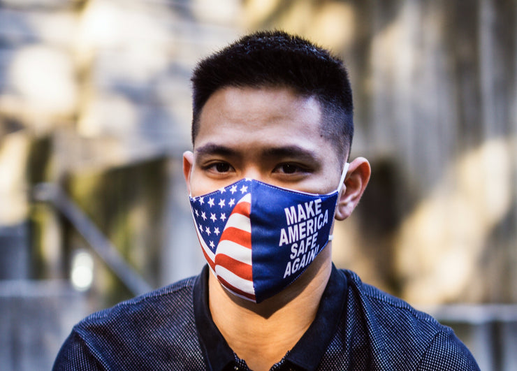 Rhino Reusable Cloth Fashion Face Mask - Make America Safe Again