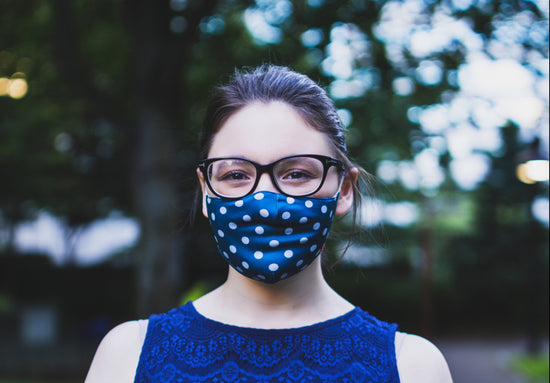 Rhino Reusable Cloth Fashion Face Mask - Polka Dot