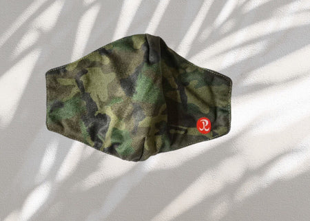 Rhino Reusable Cloth Fashion Face Mask - Green Camo