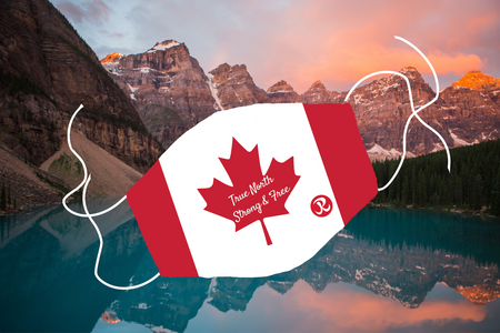 PRE-ORDER: Rhino Reusable Face Mask - Canada Flag True North Strong & Free
