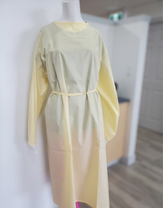 Eco-Friendly Reusable Isolation Gown, Yellow