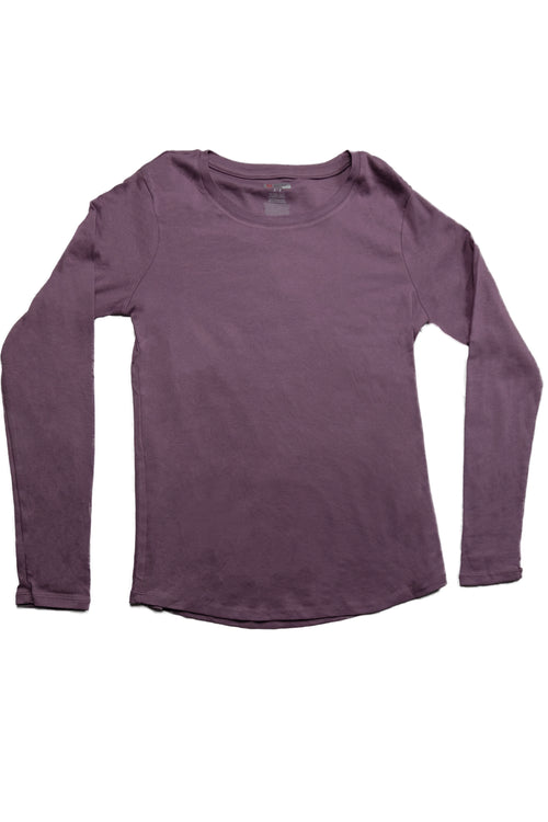 The Luxe Ultra Soft Long-sleeve Under Scrub Top - Dusty Lavender - Rhino Scrubs