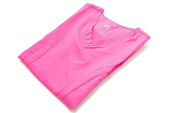 Flex Top Pink - Rhino Scrubs