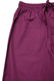 The Modern One Pocket Drawstring Scrub Bottom - Wine - Rhino Scrubletix Style 8