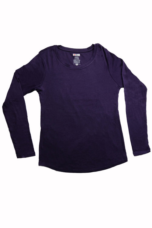 The Luxe Ultra Soft Long-sleeve Under Scrub Top - Purple - Rhino Scrubs