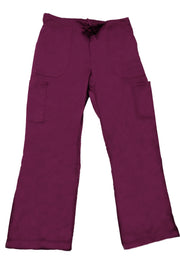 The Relaxed Fit Multi Pocket Scrub Bottom - Wine - Rhino Scrubletix Style 10