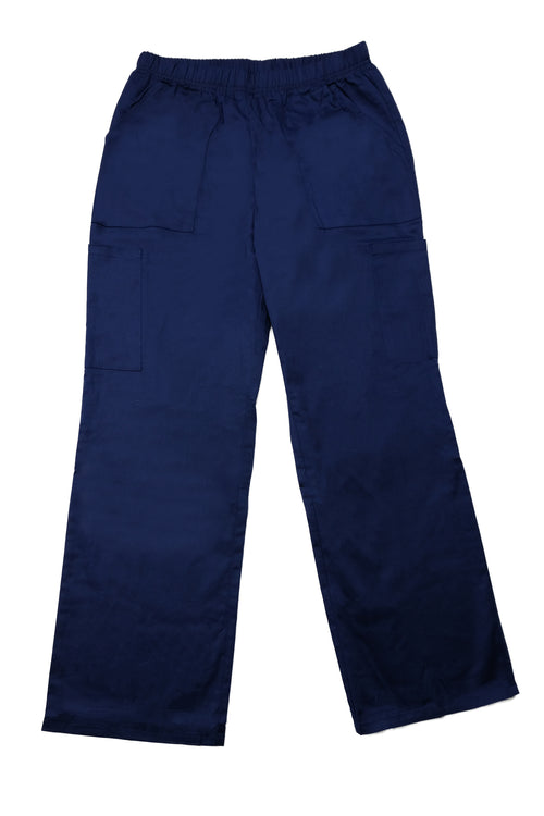 The Relaxed Fit Multi Pocket Scrub Bottom - Navy - Rhino Scrubletix Style 10