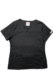 The Tailored V-Neck Scrub Top - Black - Rhino Scrubletix Style 1