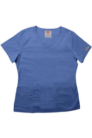 The Tailored V-Neck Scrub Top - Periwinkle - Rhino Scrubletix Style 1