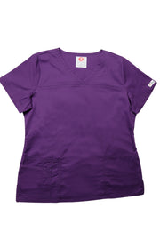 The Tailored V-Neck Scrub Top - Eggplant - Rhino Scrubletix - Style 1