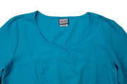 The Crossover Curved Scoop V-Neck Scrub Top - Sky Blue - Rhino Scrubletix Style 6