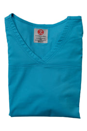 The Tailored V-Neck Scrub Top - Sky Blue - Rhino Scrubletix Style 1
