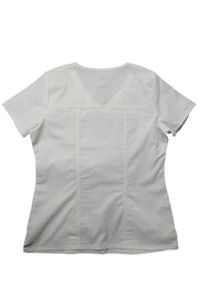 The Tailored V-Neck Scrub Top - White - Rhino Scrubletix Style 1