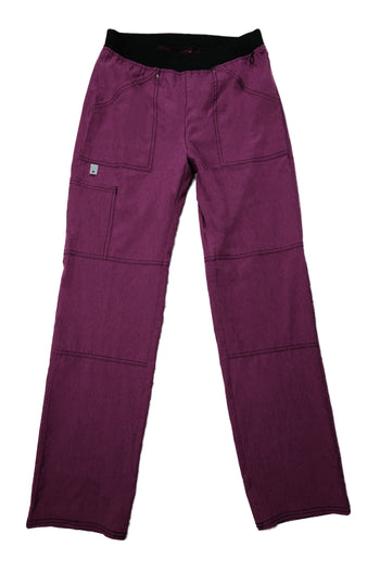 The Sporty Contrast Premium Flex Scrub Bottom - Mauve - Rhino Scrubletix Style 22