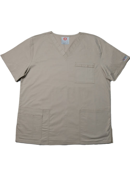 The Unisex V-Neck Scrub Top - Beige - Rhino Scrubletix Style 2