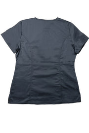 The Contemporary Fitted Curved V-Neck - Charcoal - Rhino Scrubletix Style 3