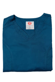 The Contemporary Fitted Curved V-Neck Scrub Top - Caribbean Deep Teal - Rhino Scrubletix Style 3