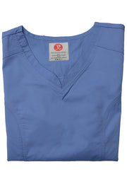 The Contemporary Fitted Curved V-Neck - Periwinkle - Rhino Scrubletix Style 3