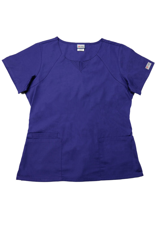 The Curved V-Slit Neckline Scrub Top - Purple - Rhino Scrubletix Style 4