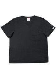The Men's Polished V-Neck Scrub Top - Black - Rhino Scrubletix Style 5