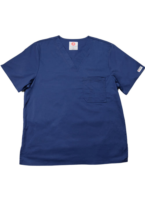 The Men's Polished V-Neck Scrub Top - Navy - Rhino Scrubletix Style 5