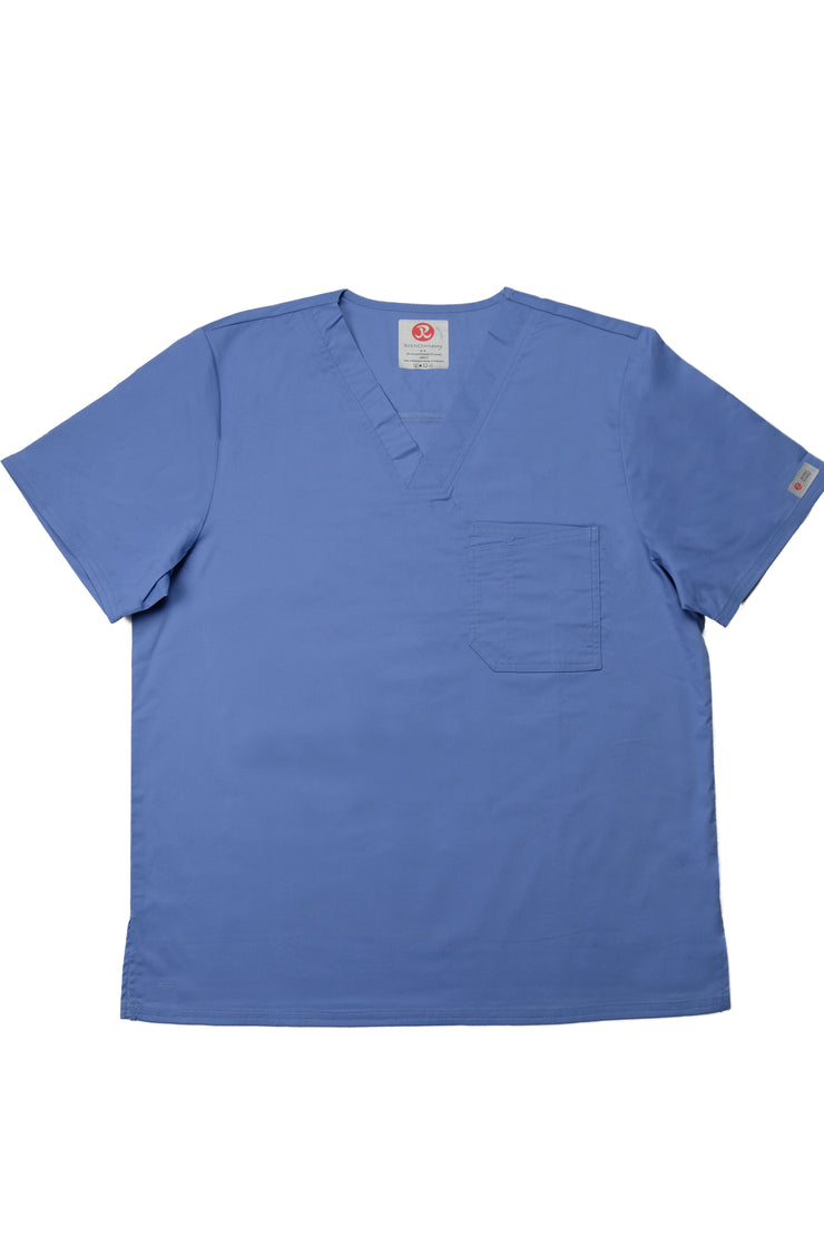 The Men's Polished V-Neck Scrub Top - Periwinkle - Rhino Scrubletix Style 5