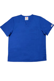 The Men's Polished V-Neck Scrub Top - Royal Blue - Rhino Scrubletix Style 5
