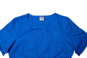 The Crossover Curved Scoop V-Neck Scrub Top - Royal Blue - Rhino Scrubletix Style 6