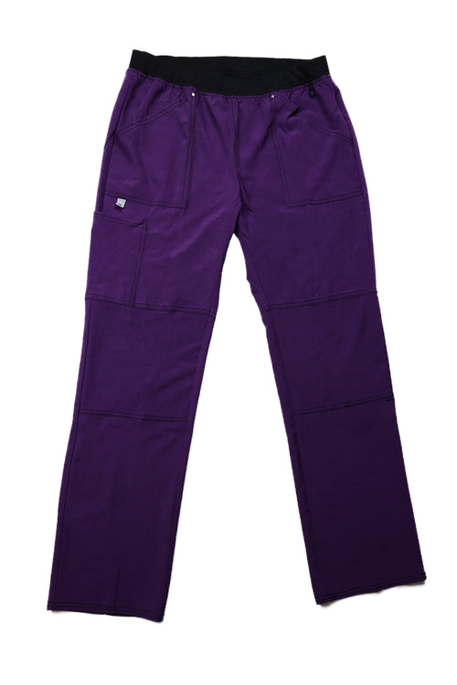 The Contrast Premium Flex Stretch Scrub Bottom - Eggplant - Rhino Scrubletix Style 9