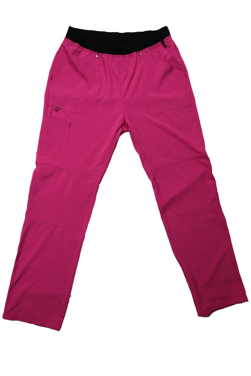 The Contrast Premium Flex Stretch Scrub Bottom - Pink - Rhino Scrubletix Style 9