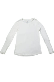 The Luxe Ultra Soft Long-sleeve Under Scrub Top - White - Rhino Scrubs