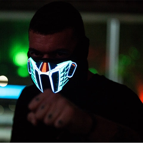 LED rave mask man