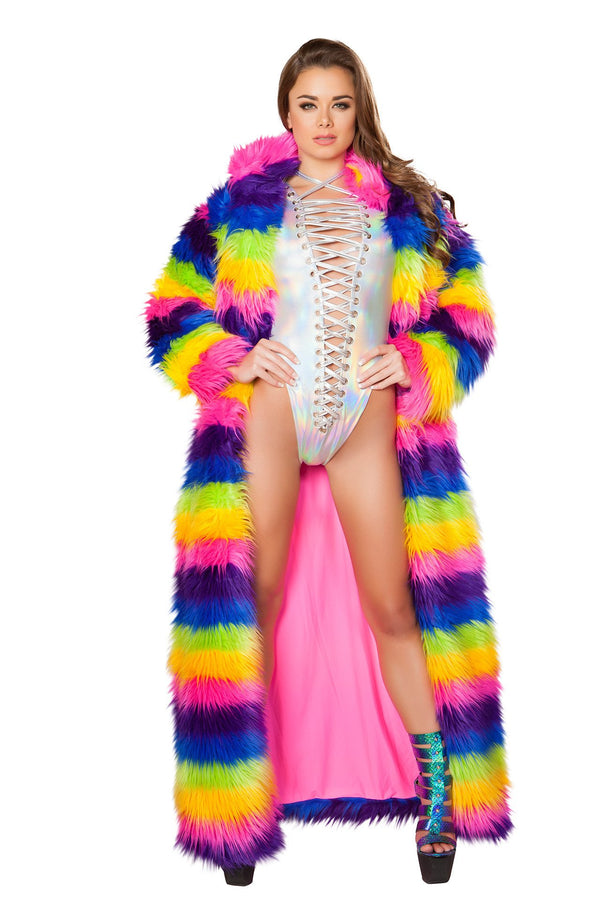 J-Valentine Rainbow Full Length Coat